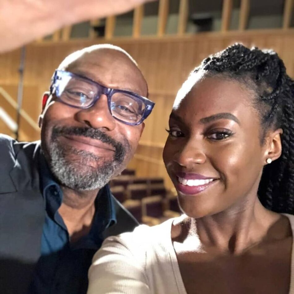 Remani with Sir Lenny Henry